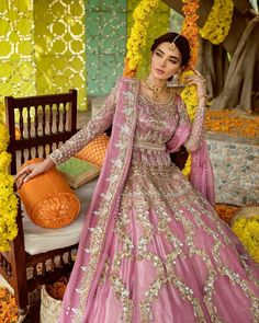 14) Peshwas in the floral Motifs! Mehendi Outfits, Floral Motif