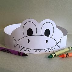 Gator Paper Crown COLOR YOUR OWN - Printable