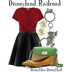 """Disneyland Railroad"" by disneythis-disneythat on Polyvore"