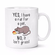 Yes I Have A Rat mugs beer cup coffee mug ceramic tea cups home decor novelty unicorn cup friend gift birthday gifts Friend Birthday Gifts, Gifts For Friends, Unicorn Cups, Mice, Rats, Kitchen Dining, Tea Cups, Coffee Mugs, Beer