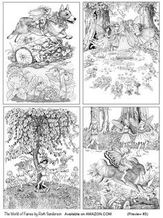 Four Frolicking Fairies From The World Of Fairies Coloring Book – Coloring Pages For Kids Blank Coloring Pages, Coloring Pages For Grown Ups, Fairy Coloring Pages, Coloring Sheets, Coloring Pages For Kids, Coloring Books, Kids Coloring, Colorful Drawings, Black And White Pictures