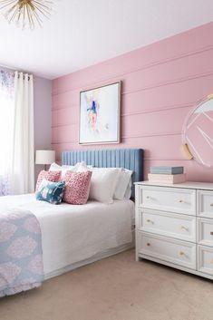 Girls Room Paint, Girl Bedroom Walls, Bedroom Wall Colors, Accent Wall Bedroom, Girl Bedroom Designs, Bedroom Decor, Teen Room Colors, Kids Bedroom Paint, Girls Bedroom Colors
