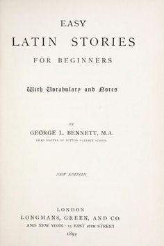 Easy Latin stories for beginners : with vocabulary and notes Latin Language Learning, Teaching Latin, Latin Phrases, Latin Words, Words Quotes, Poetry Quotes, Quotes Quotes, Latin Grammar, Vocabulary Journal