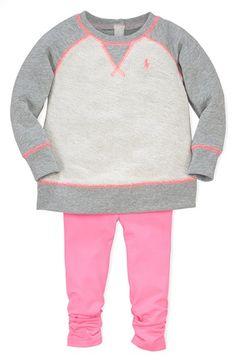 Ralph Lauren Sweatshirt & Leggings (Baby Girls) available at #Nordstrom