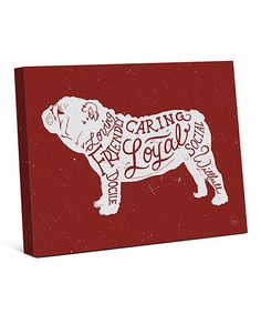 This Red English Bulldog Canvas is perfect! #zulilyfinds