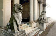 Marble lion. Мраморные львы