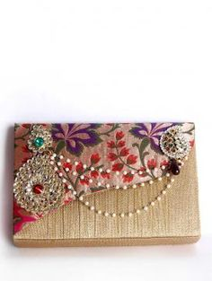 Buy Online Traditional golden clutch by Golden Ratio - 2014