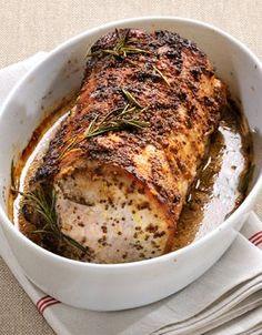 Recette Carré de porc à la moutarde : Huilez le rôti et posez-le dans un plat à four.Glissez le plat dans le four froid et allumez-le à 150 °C (th. 5).L...