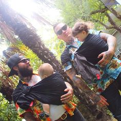 Tattooed babywearing dads #sakurabloom