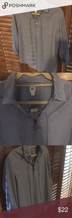 Gap NWT Adorable, lace up in front. NWT. Perfect with jeans or shorts. GAP Tops Blouses