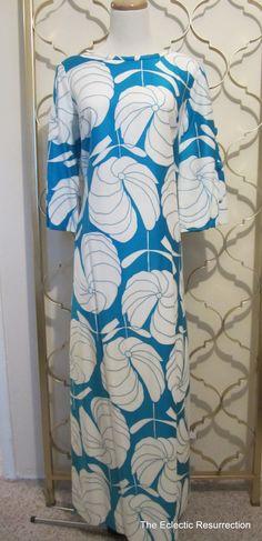 Vintage 1960s Hawaiian Dress-Maxi Dress-Koa of Hawaii. $60.00, via Etsy.