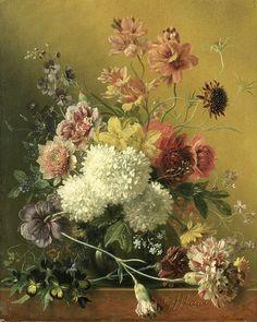 Stilleven met bloemen, Georgius Jacobus Johannes van Os, 1820 - 1861