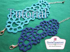 How to Crochet Tatoo Bracelets (Video) - ViralVideos Diy Necklace Bracelet, Crochet Bracelet, Crochet Earrings, Freeform Crochet, Knit Crochet, Tatting Patterns, Crochet Patterns, Crochet Crafts, Crochet Projects