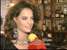 Dar Zuzovsky an Israeli actress/model was wearing our Anais earrings for an interview on TV.