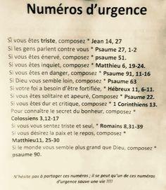 Bible et numéros d'urgence