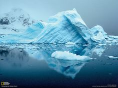 """Antarctica Ice: The photographer who took this photo of a chunk of ice in Antarctica says """"Antarctica is where you go when you want to discover what Earth used to be like."""""""