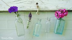 love this garland from old bottles, I have some in my antique booth.
