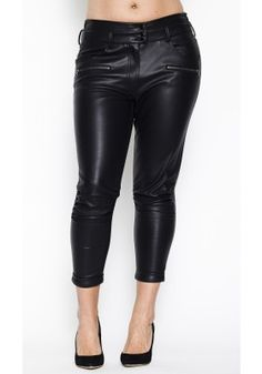Plus Size Leather Pants ~ Carmakoma