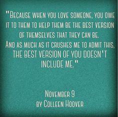 November 9  Colleen Hoover