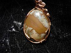 Picture Jasper Pendant by MallardRocksandGems on Etsy, $25.00