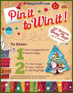 Enter now for your chance to win 35 Holiday BragTags from imagestuff.com!  (http://www.imagestuff.com)