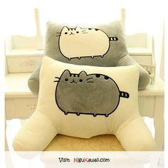 Adorable Pusheen Cat Pillow (♥ω♥) Follow Kigu Kawaii for more cute stuff!