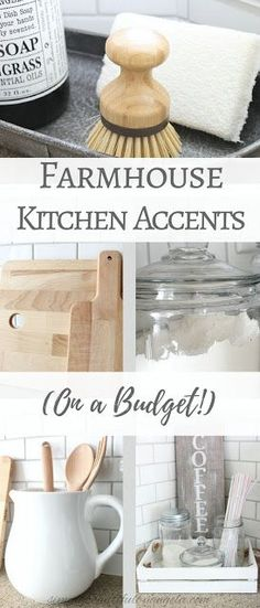 Simply Beautiful by Angela: Farmhouse Kitchen Accents on a Budget