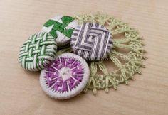 New button designs by Gina Barrett