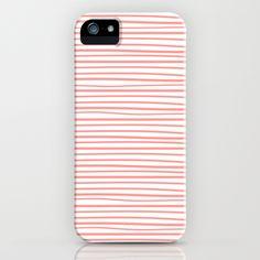 Sailor Stripe - Guava iPhone Case / #NTSPrintShop