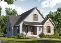Visit our blog to learn more about these lovely waterfront cottage homes. . . . #homes #house #homplan #cottage #cottagestyle #newhomes #homechanneltv Cottage Homes, Cottage Style, Home Channel, Marina Resort, Waterfront Cottage, Ranch Style, Curb Appeal, Custom Homes, Modern Architecture