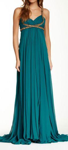 Emerald Grecian Gown