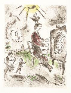 """""""Celui Qui dit les Choses 16 U"""" by master arist Marc Chagall - Park West Gallery"""