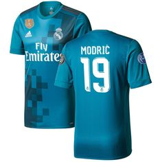 Luca Modric Real Madrid adidas 2017 18 Third Authentic Jersey - Teal 53a0eff2a