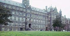 Georgetown University in Georgetown, Washington, DC Georgetown Washington, Washington Dc, Georgetown University, Dream School, Schools, Louvre, Wanderlust, College, Building