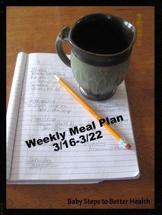 Weekly Meal Plan 3/16-3/22 | my sister's pantry