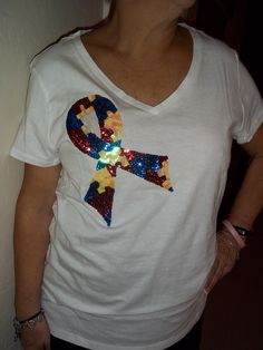 Autism Awareness Ribbon T-shirt. $35.00, via Etsy.