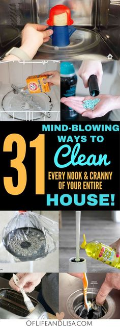 House Cleaning Tips and Tricks That Will Blow Your Mind Clean every nook and cranny of your house with these amazing house cleaning tips and tricks.Clean every nook and cranny of your house with these amazing house cleaning tips and tricks. Deep Cleaning Tips, House Cleaning Tips, Natural Cleaning Products, Cleaning Hacks, Diy Hacks, Spring Cleaning Tips, Clean House Tips, Cleaning Schedules, Cleaning Recipes