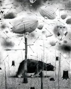 Jonas Löfgren . Nowhere, 2011. Graphite on paper.      http://www.jonaslofgren.com/