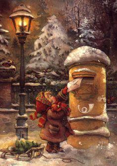 - CHRISTmas' Past - Weihnachten Winter Christmas Scenes, Noel Christmas, Christmas Greetings, Christmas Postcards, Christmas Design, Illustration Noel, Christmas Illustration, Vintage Christmas Images, Christmas Pictures