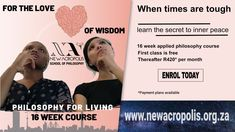 Our first class and the beginning of your journey for inner peace.  Starts on the 30th May on Zoom. Have a look at our facebook events and website for more details. School Of Philosophy, Free News, First Class, Inner Peace, 30th, Journey, How To Apply, Wisdom, Events