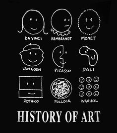 I made my History of Art t-shirt into a pillow. Now I can look at this great graphic in two places!