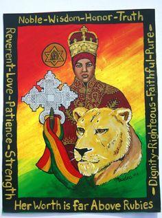Empress Menen Ethiopian Queen Woman of Noble by Ilive2loveJAH, $15.00
