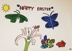Happy Easter, My Drawings, Happy Easter Day