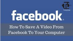 I Hope you like This article on how to save video from facebook http://www.trickydad.com/2017/05/how-to-save-a-video-from-facebook.html?utm_campaign=crowdfire&utm_content=crowdfire&utm_medium=social&utm_source=pinterest