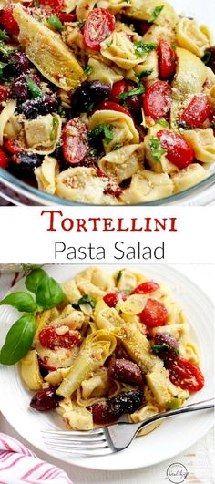 Tortellini Pasta Salad (Vegetarian) - A Pinch of Healthy