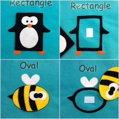 Children's Shapes Quiet Book by QuietTimeDesigns on Etsy