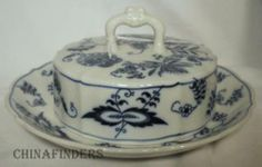 Blue Danube Japan China Blue Danube Pattern Round Butter or Cheese Dish Lid | eBay