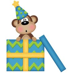 Silhouette Design Store - View Design #148316: birthday monkey with gift