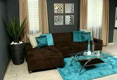 Salon en azul chocolate