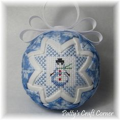 Quilted Keepsake Ornament  Let It Snow / por PattysCraftCorner